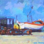 "Fishing boat III, Aldeburgh  acrylic 6""x6""x1"""
