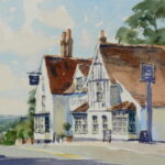 "'The Griffin' Danbury' watercolour 6 1/4""x4 3/4"""