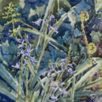 "'Garden bluebells' watercolour 9""x7"" Lockdown art April 2020"