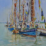 "'North Fambridge river festival' watercolour 9""x7"""