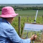 Sue Spiers painting 'en plein air'