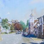 'Burnham Clocktower looking east'