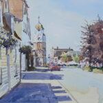 'Burnham Clocktower looking west'